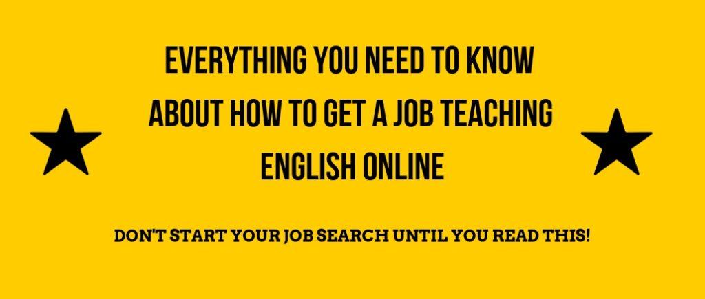 Get an online ESL Job