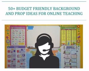 50+ Budget-Friendly Background and Prop Ideas for Online Teaching